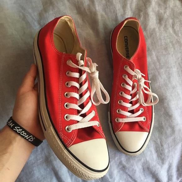 Red Converse Fashion Sneakers   Poshmark